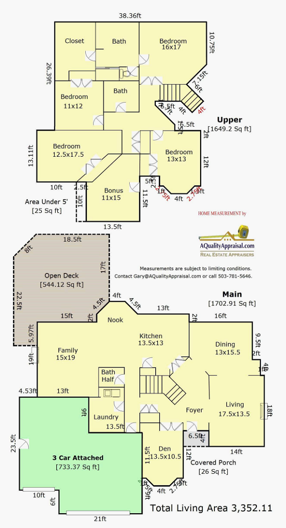 Room Service Floor Plan Appraiser Home Measurement Sketch